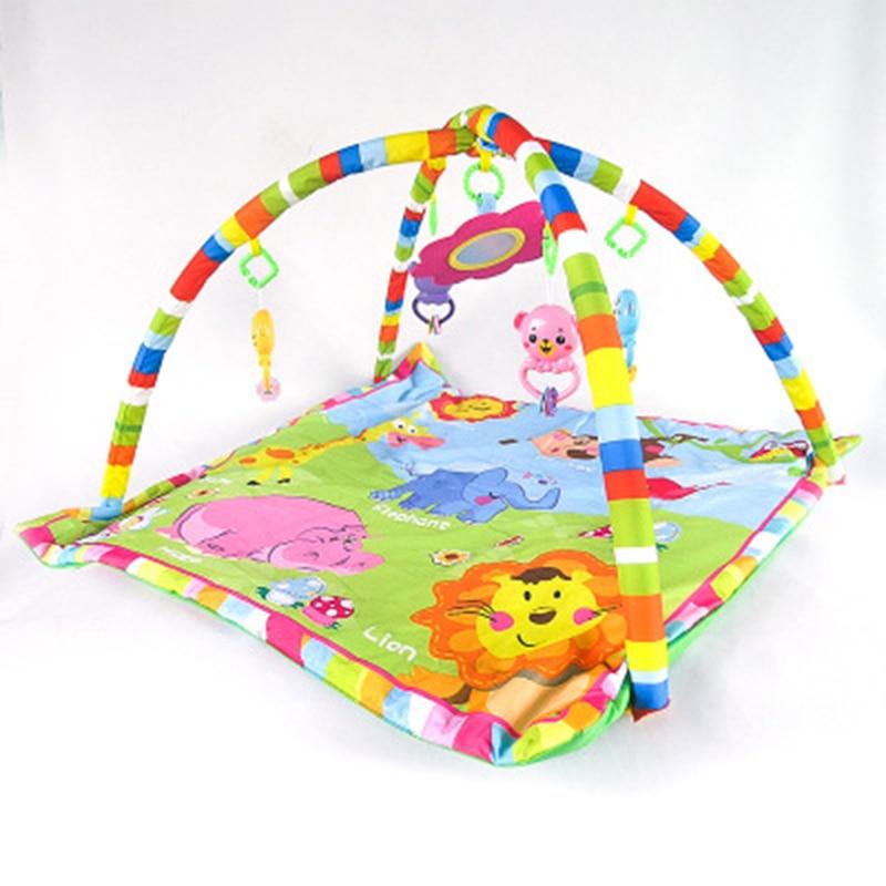 Baby animal game blanket mat Baby Activity Gym Giraffe tiger elephant animal crawling mat Baby sleeping appease rattle toy