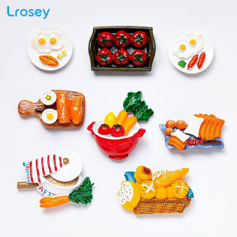 Egg Bread Fridge Magnet Home Decoration Accessories high quality magnetic kitchen Series Tourist souvenir Refrigerator Magnets in Fridge Magnets from Home Garden