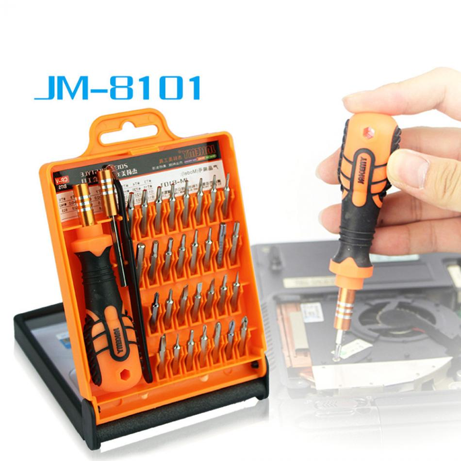 JAKEMY JM-8101 33 in 1 multifunctionele precisie schroevendraaier set voor laptop mini elektronische bits reparatie tools kit set