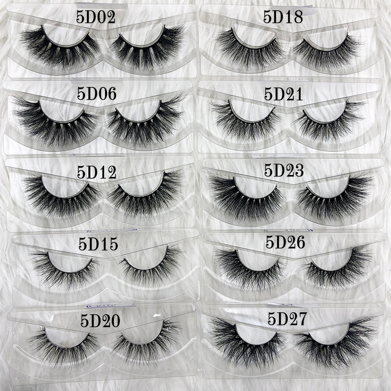 Image 4 - Mikiwi wholesale 50 pairs/pack 3D Mink Lashes No packaging Full Strip Lashes Mink False Eyelashes custom box Makeup eyelashes-in False Eyelashes from Beauty & Health