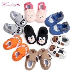 Модная новая весенне-осенняя зимняя детская обувь девочек мальчиков первые ходунки тапочки новорожденных девочек пинетки 0-18M