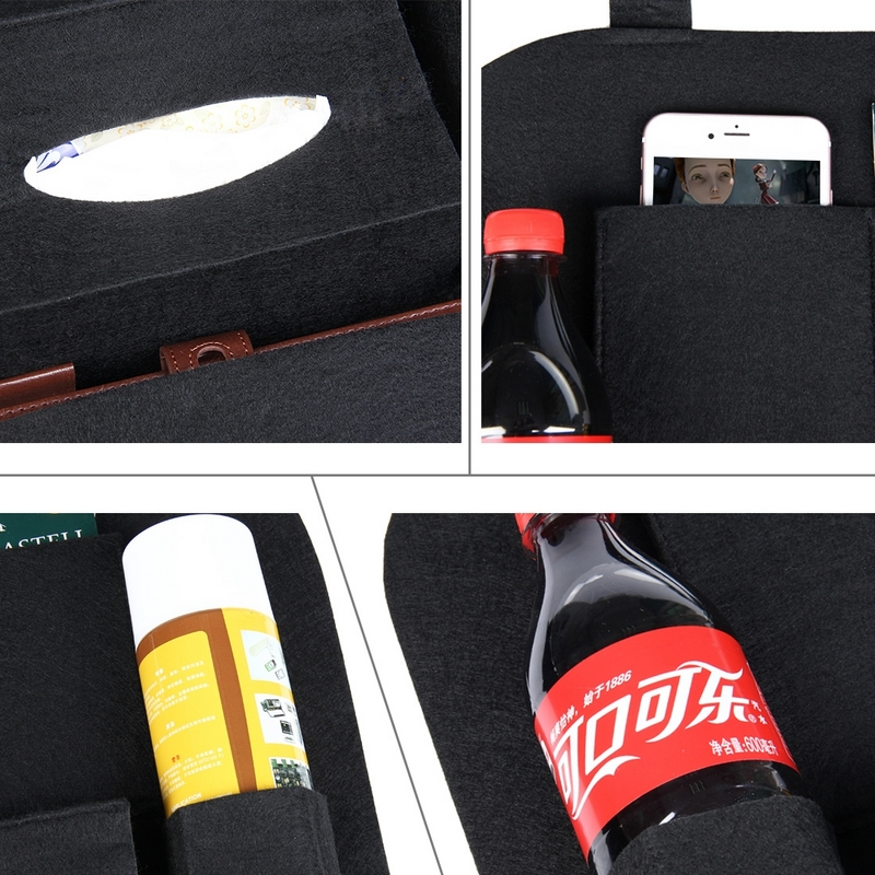 1Pc Car seatback bag Universal Auto Car Back Seat Multi-Pockets Travel Storage Bag Car-styling Back Seat Multi-Colors organizer (14)