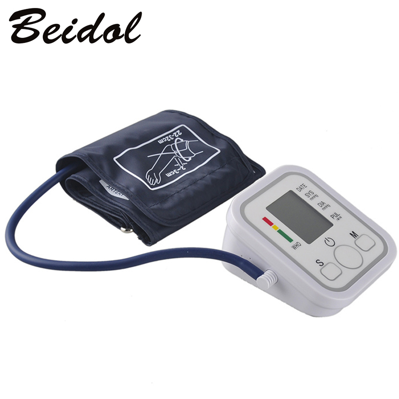 Electronic Portable Digital Blood Pressure Monitor Pumps Device Apparatus For Gauge Heart Rate Medical Tonometer YR-B02B-V blood pressure monitor automatic digital manometer tonometer on the wrist cuff arm meter gauge measure portable bracelet device
