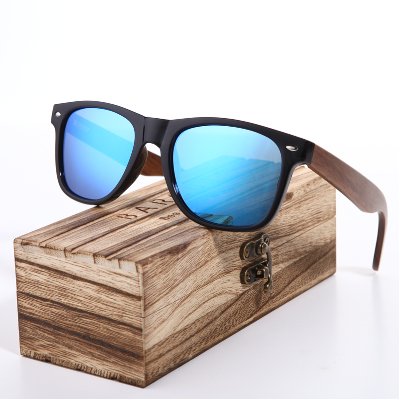 aa96fb8c6a1 Barcur 2018 Black Walnut Sunglasses Wood Polarized Sunglasses Mens Glasses  Uv 400 Protection Eyewear In Wooden Original Box