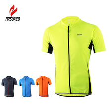Arsuxeo Cycling Jersey Men's Short Sleeve Shirt MTB Bike Cycling Shirt Cycling Jersey Sportswear Quick Dry Short Sleeve