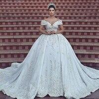 Белые Бальные платья для свадьбы индивидуальный заказ элегантные кружевные аппликации Формальные Платья для вечеринок с открытыми плечам