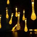 Movido A Energia Solar Seqüência de Luz Gota de Água Fada String Lâmpada À Prova de água para o Jardim, pátio, quintal, em casa, Árvore de natal, partido, férias