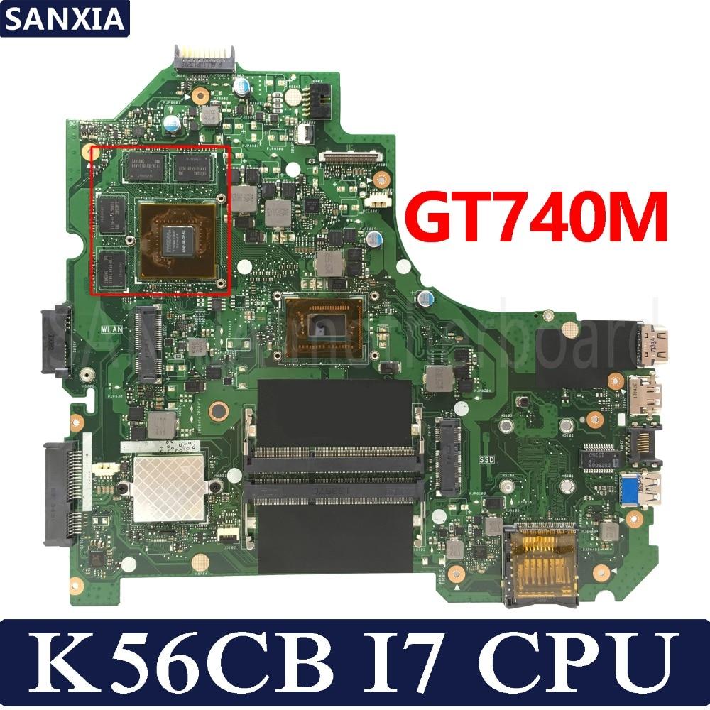 KEFU K56CB Laptop motherboard for ASUS K56CB K56CM K56C K56 S550CM S550C Test original mainboard I7 3537U/3517U GT740M