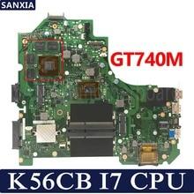 KEFU K56CB Laptop motherboard for ASUS K56CB K56CM K56C K56 S550CM S550C Test original mainboard I7