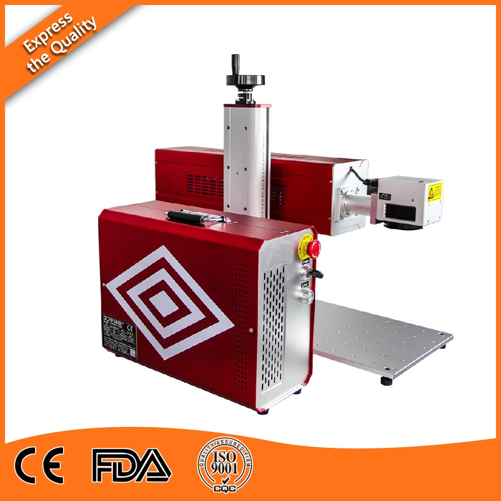 Split 30W 40W Co2 Laser Marking Machine For Leather By Free DHL Express