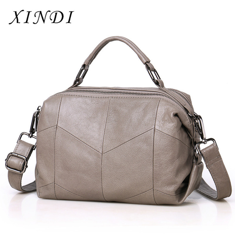 XINDI Real Cow Leather Ladies HandBags Women Genuine Leather bags Totes Messenger Bags Hign Quality Designer Luxury Brand Bag mengxilu real cow leather ladies handbags women genuine leather bags totes messenger bags hign quality designer luxury brand bag