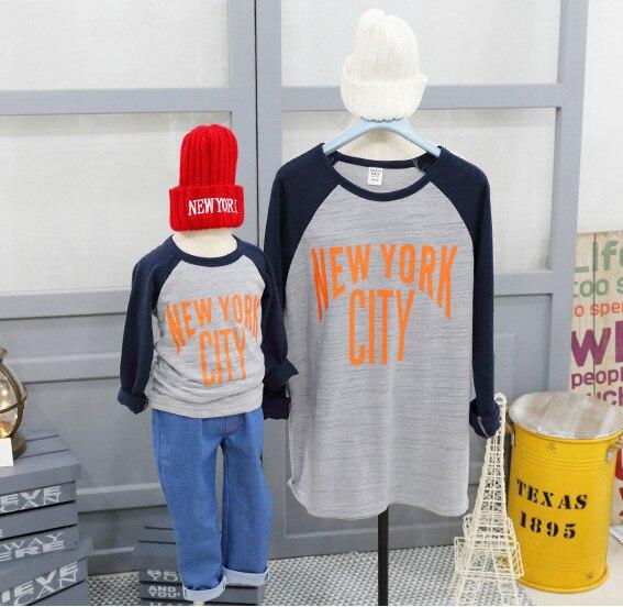 Familia Look nueva moda style letras imprimir madre hijo trajes de madre e hija de la familia del bebé ropa a juego camisetas al por menor
