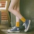 Pilha de pilha de meias femininas outono meias estilo preppy meias das mulheres 100% algodão meias cor sólida todo o jogo