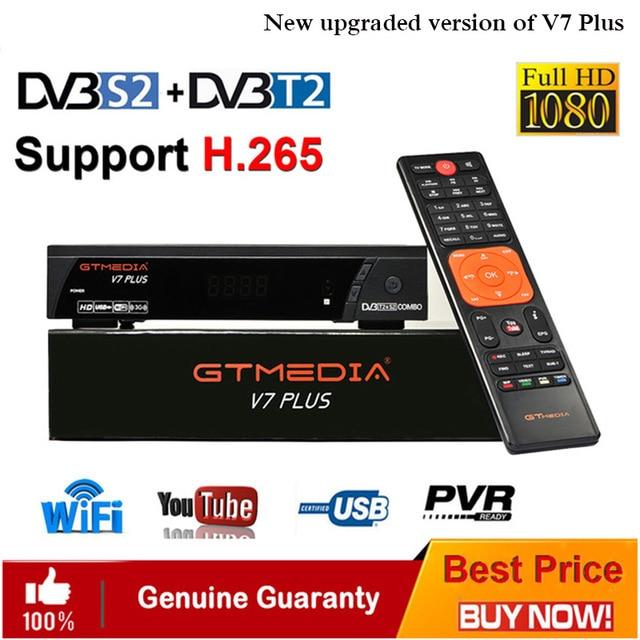 Récepteur terrestre combiné GTmedia V7 PLUS DVB T2/S2 H.265 prise en charge HDMI Europe/russe/Columbia/France cccam Newcam IPTV TV box