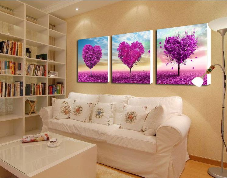 3 panel canvas art purple Paintings canvas flowers Pictures decor modern Home decoration wall art office wall painting-in Painting & Calligraphy from Home & Garden on Aliexpress.com   Alibaba Group