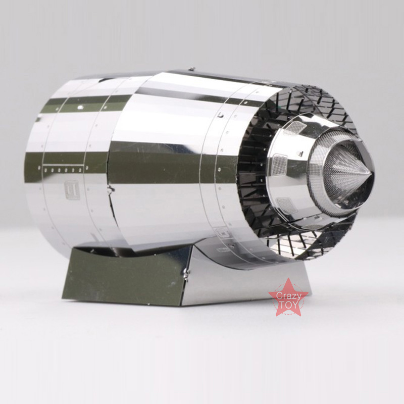 Mu 3d metal puzzle motor turbina modelo