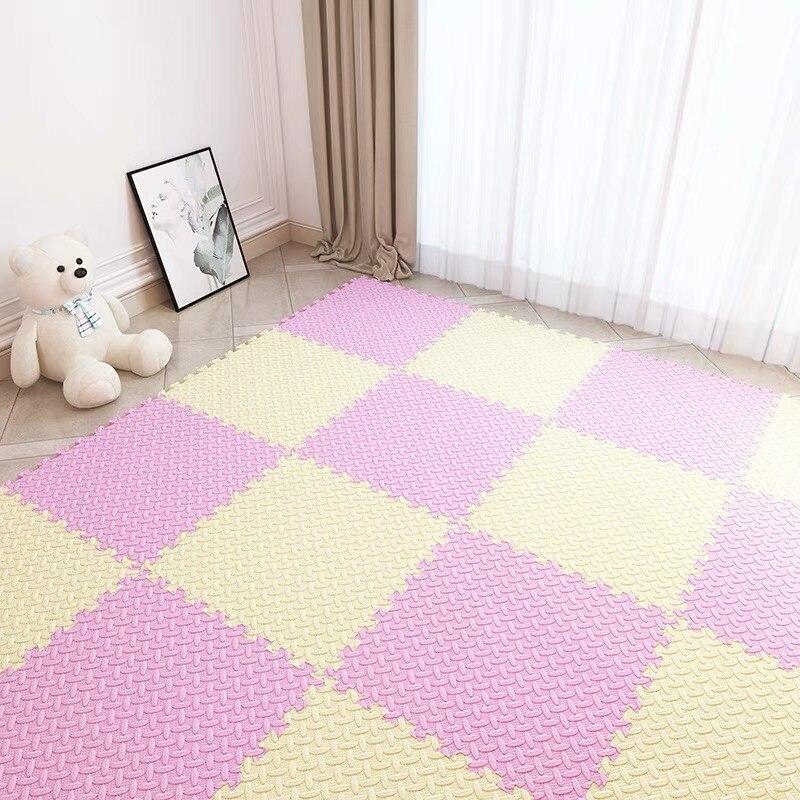 Tapis de Puzzle de jeu de mousse d'eva de bébé pour le tapis de tapis de plancher de tuiles d'exercice de verrouillage d'enfants, chaque tapis de jeu de 30X30*1 cm 40 pièces