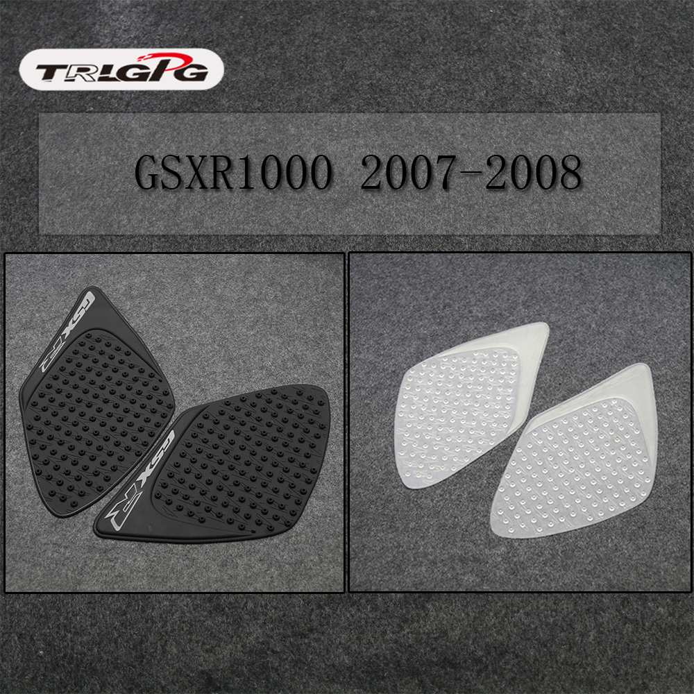 For Suzuki GSXR1000 2007-2008 K7 GSXR <font><b>1000</b></font> Motorcycle Protector Anti slip Tank Pad Sticker Gas Knee Grip Traction Side 3M Decal image