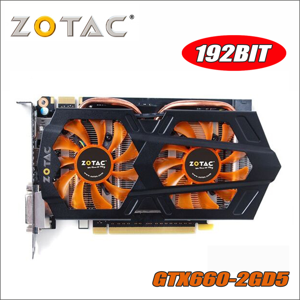 все цены на Original ZOTAC Video Card GeForce GTX 660 2GB GPU 192Bit GDDR5 Graphics Cards for nVIDIA Map GTX660 2GD5 GK106 Hdmi Dvi ti 750