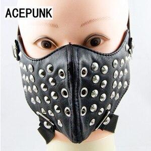 Image 3 - Классная мужская маска для косплея в стиле хип хоп, цвет черный