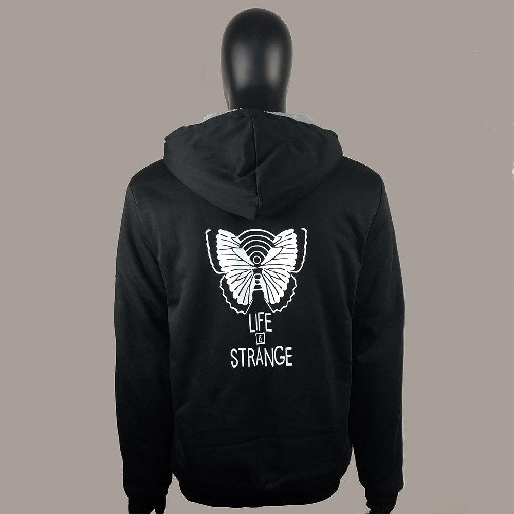 Life Is Strange Thicken Hoodies Cosplay 3D Print Long Sleeve Jackets Full Zip Sweatshirts Cool Pullover Unisex Casual Coat