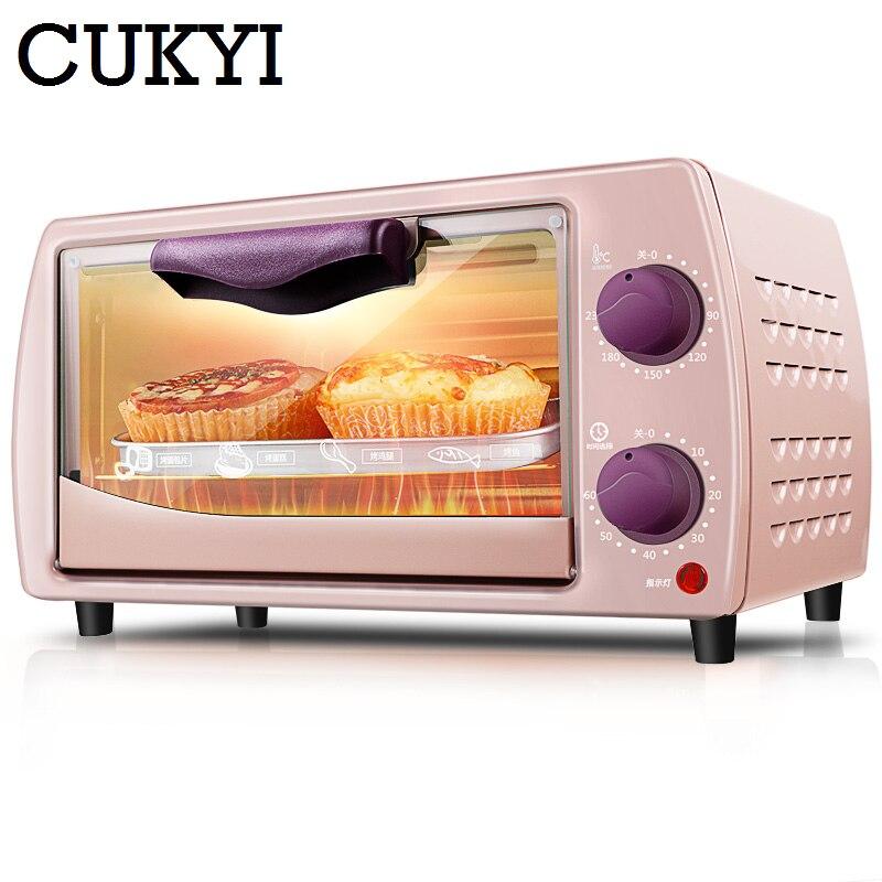 CUKYI 220 v/9L Mini électrique four accueil Multifonctionnel cuisson four bagatelle et pain 800 w