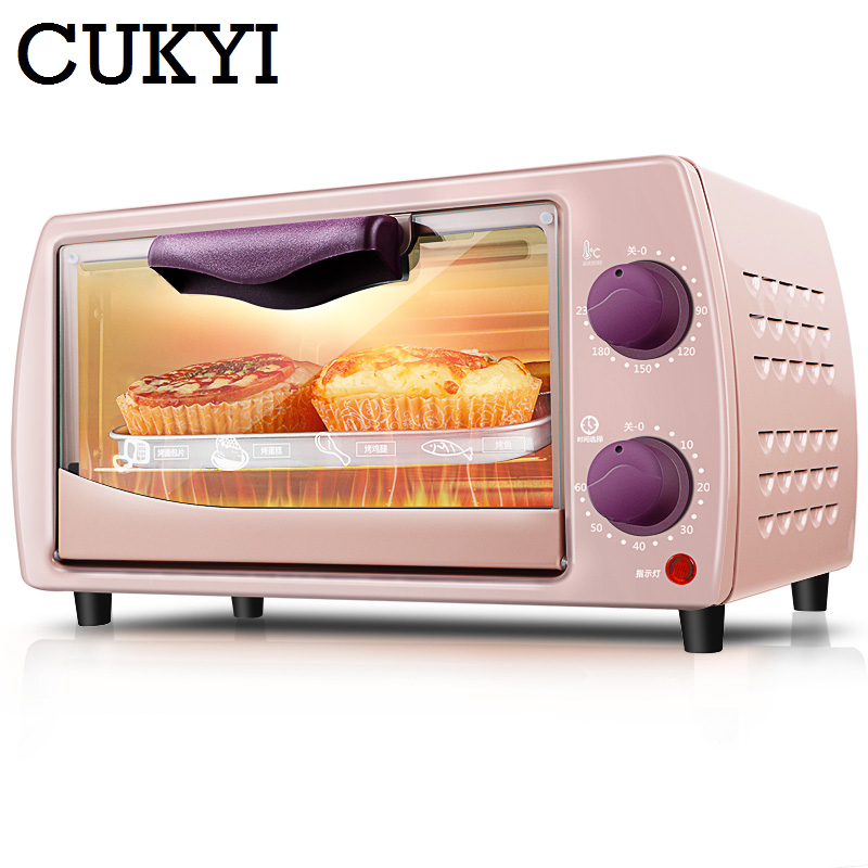 CUKYI 220v / 9L Mini electric oven home Multifunctional baking oven trifle and bread 800W