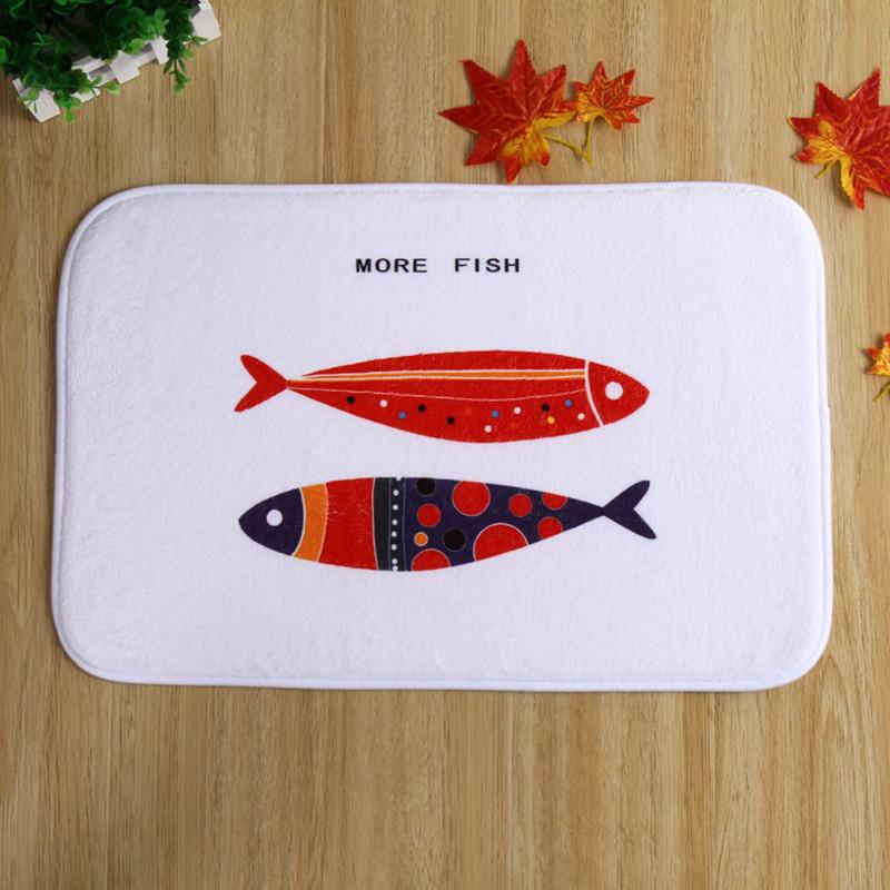 2016 nouveau 40x60 cm tapis de bain de poissons non slip tapis qualit velours corail - Tapie Salle De Bain Aliexpress
