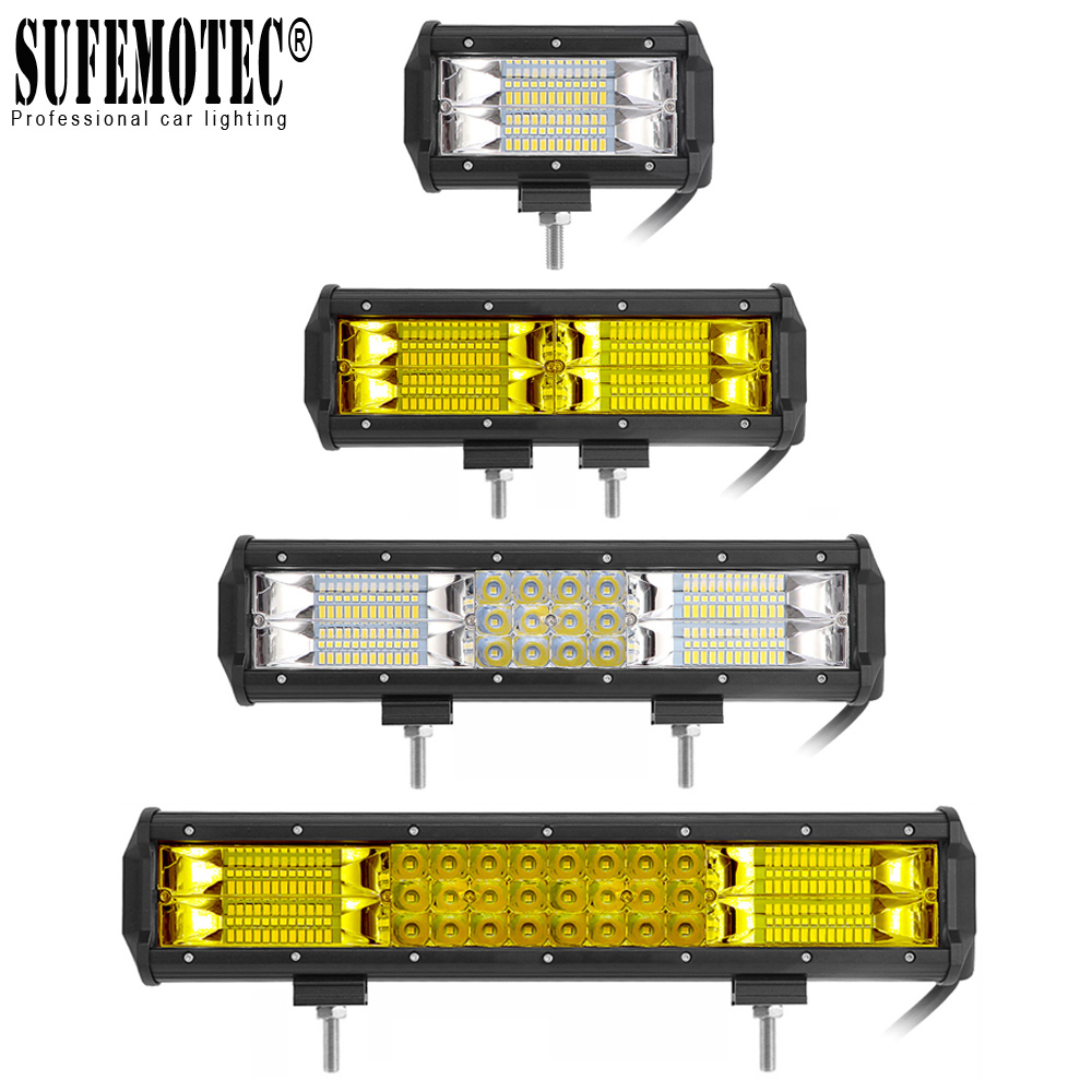 5 quot 9 quot 12 Inch LED Light Bar 12V 24V Flood Combo Beam Work Lights For ATV 4X4 Offroad Truck Boat Pickup Motorcycle Driving Lamp in Light Bar Work Light from Automobiles amp Motorcycles