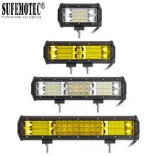 цена на 5 9 12 Inch LED Light Bar 12V 24V Flood Combo Beam Work Lights For ATV 4X4 Offroad Truck Boat Pickup Motorcycle Driving Lamp