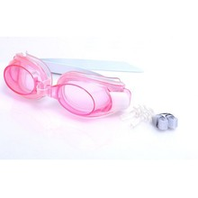 Children Adjustable Waterproof Anti fog Swimming Glasses Goggles Outdoor Swim Pool Eyewear & Ear Plugs Nose Clip Swimming Sets(China)