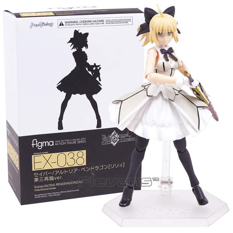 Fate Grand Order figma EX-038 Saber Lily Altria Pendragon PVC Action Figure Collectible Model Toy 14cm fate grand order anime saber jeanne gilgamesh e f g h i j series japanese rubber keychain