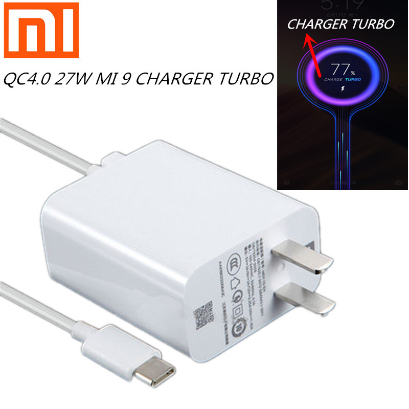 <font><b>27W</b></font> <font><b>charger</b></font> Original xiaomi fast <font><b>charger</b></font> QC4.0 USB <font><b>charger</b></font> Turbo quick adapter USB type C cable for mi9 se <font><b>MI</b></font> 8 7 F1 mix 2 2S 3 image