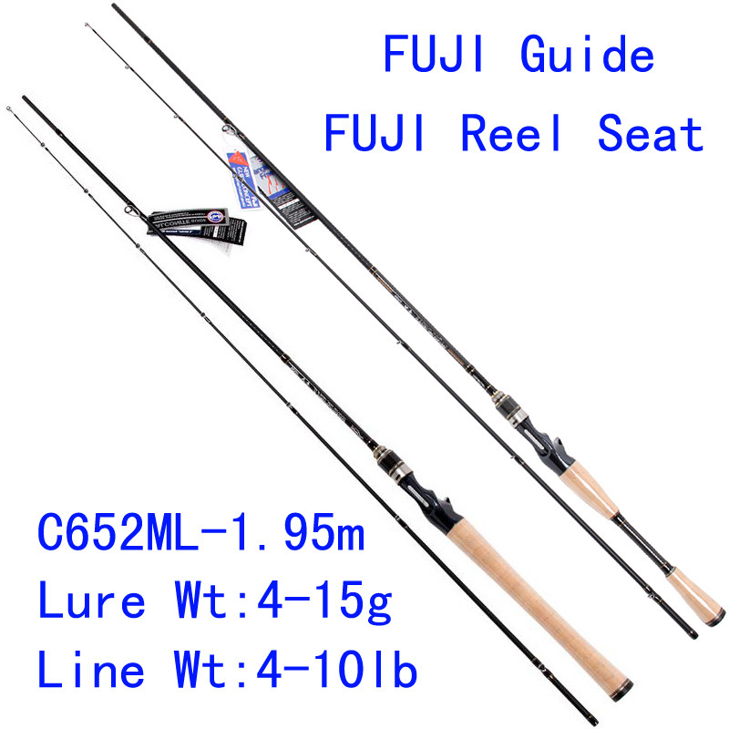 Tsurinoya PRO FLEX C652ML-1.95m ML Action FUJI Guide Reel Seat Bait Casting Rod High Carbon 3A Cork Hanle Cast Fishing Rod Pesca trulinoya pro flex c652ml 1 95m ml action fuji guide reel seat bait casting rod high carbon 3a cork hanle cast fishing rod pesca