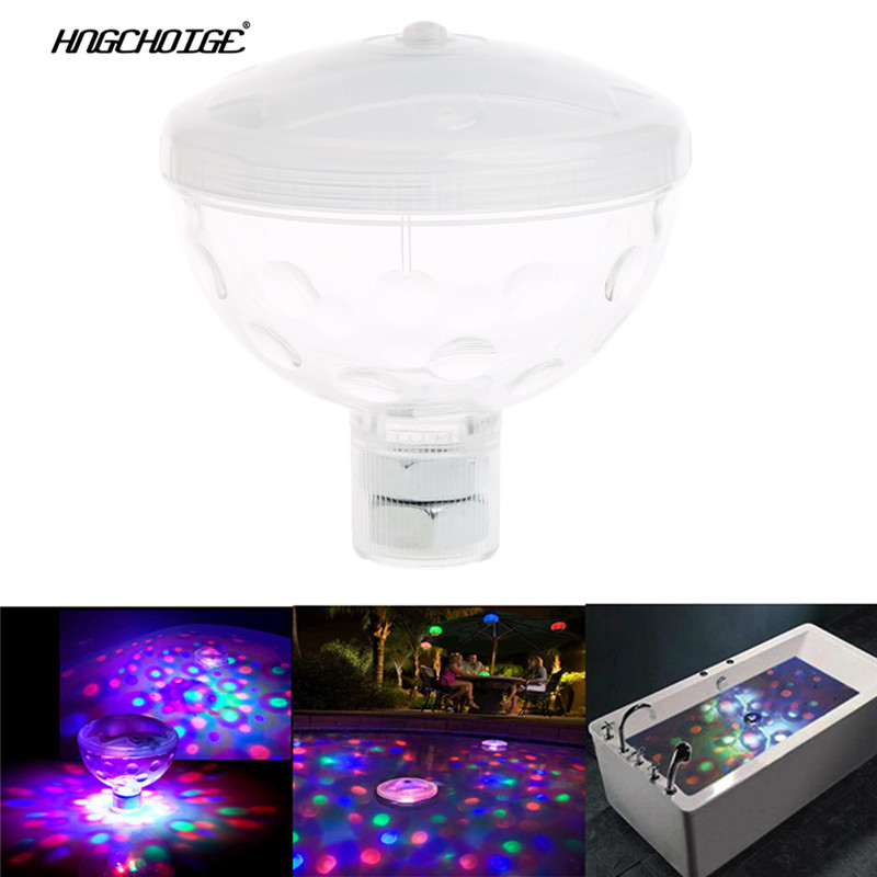 Hngchige 4 Led Floating Underwater Disco Light Glow Show Swimming Pool Hot Tub Spa Lamp Delaying Senility Led Underwater Lights Led Lamps
