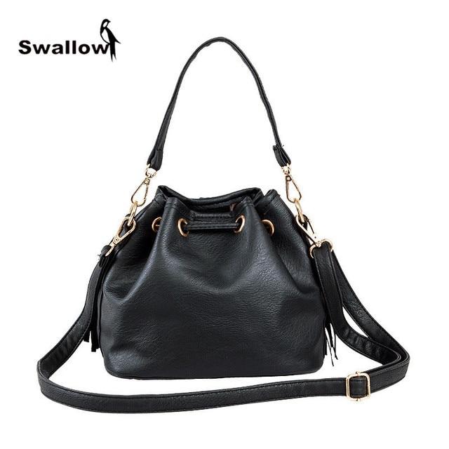 Fashion Spring 2017 Newest Shoulder Bags For Women Leather Drawstring Crossbody Famous Brand Handbag Bucket