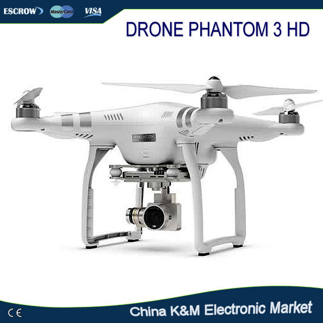 DJI Phantom 3 RC Quadcopter HD Camera Drone with Extra Battery Ready to Fly,luxury suitcase package,super safe