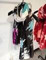 Pintura A Tinta Lenço de Três Cores de Algodão macio Cachecol Foulard Femme Usando Todo o Ano de Moda das Mulheres Lenços 109*180 cm