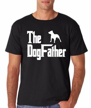 "Hot Summer Casual T-Shirt  Short-Sleeved  ""The Dogfather Pitbull"" Pet Tee"
