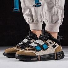 Fashion Week Autumn Summer Men Dad Shoes Joker Platform Casual High Top Hook Loop Chunky Sneakers Tenis Masculino