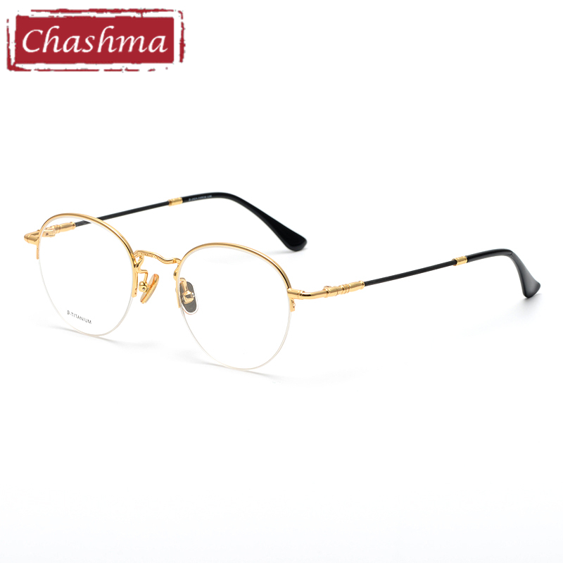 0beb0134af1e8 Винтаж luxe ronde bril титановые oculos de grau masculino fausse lunette de  vue femme optik очки