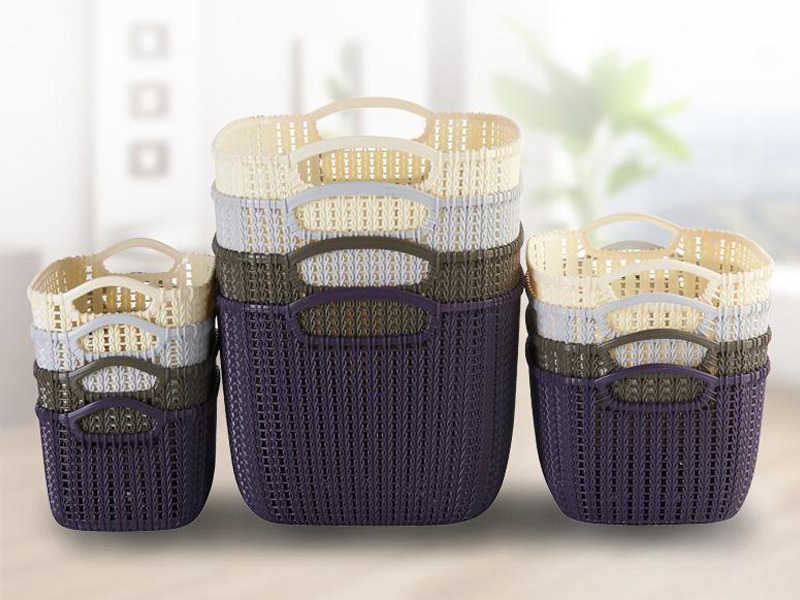 Desktop Cestino di Immagazzinaggio con la maniglia Sundries Dell'organizzatore Ufficio di Plastica di Finitura Scatola di Cosmetici Caso di Risparmio di Spazio contenitori di Stoccaggio Borsa