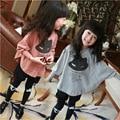 3 - 13 т для девочек комплект с длинным рукавом характер майка - + брюки для подростков девочек одежда школьная одежда девушки Autum комплект одежды