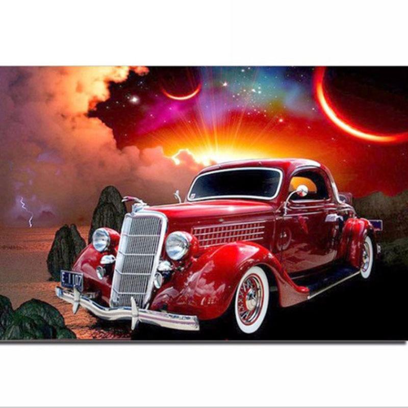 Pilna dimanta gleznošana karikatūra automašīna dimanta - Māksla, amatniecība un šūšana