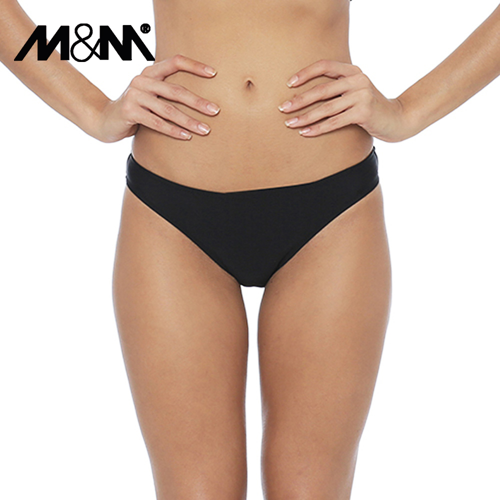 Women Swim Briefs Beach Low Waist Chiffons Ruching 2017 Summer Bikini Bottom Wraps Sexy Micro Badetøj Kvinder Sporty Shorts B609