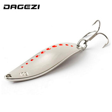 DAGEZI Metal Spinner Spoon Fishing Lure Hard Baits Sequins Noise Paillette with Feather Treble Hook Tackle