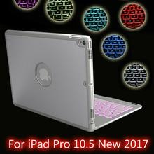 Hochwertige 7 Farben Hintergrundbeleuchtung Licht Drahtlose Bluetooth Tastatur Fall Abdeckung Für iPad Pro 10,5 Neue 2017 + Film + Stylus