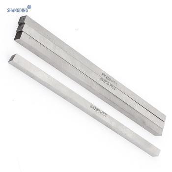 цена на Promotion! 4 pcs CNC Lathe HSS Square Cutting Tool Bits Bar 8mm x 8mm x 200mm Gray