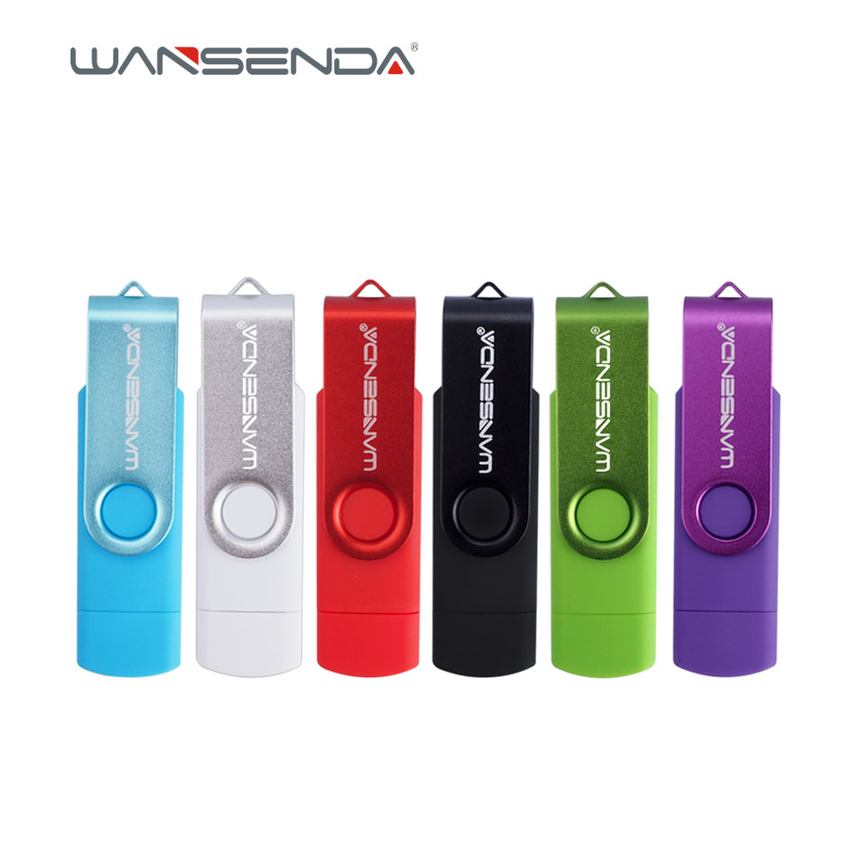 Original Wansenda S100 OTG USB Flash Drive 128GB 64GB 32GB 16GB 8GB 4GB Pen Drive USB 2.0 pendrive for Android/PC with package new usb 3 0 wansenda otg usb flash drive for smartphone tablet pc 8gb 16gb 32gb 64gb 128gb pendrive high speed pen drive package