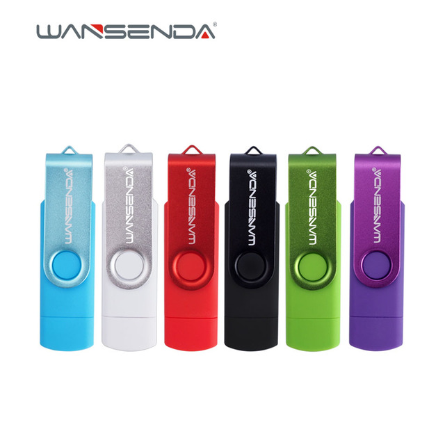Оригинальный wansenda S100 флэш-накопитель USB OTG 128 ГБ 64 ГБ 32 ГБ 16 ГБ 8 ГБ 4 ГБ ручка накопитель USB 2.0 флешки для Android/pc с пакетом